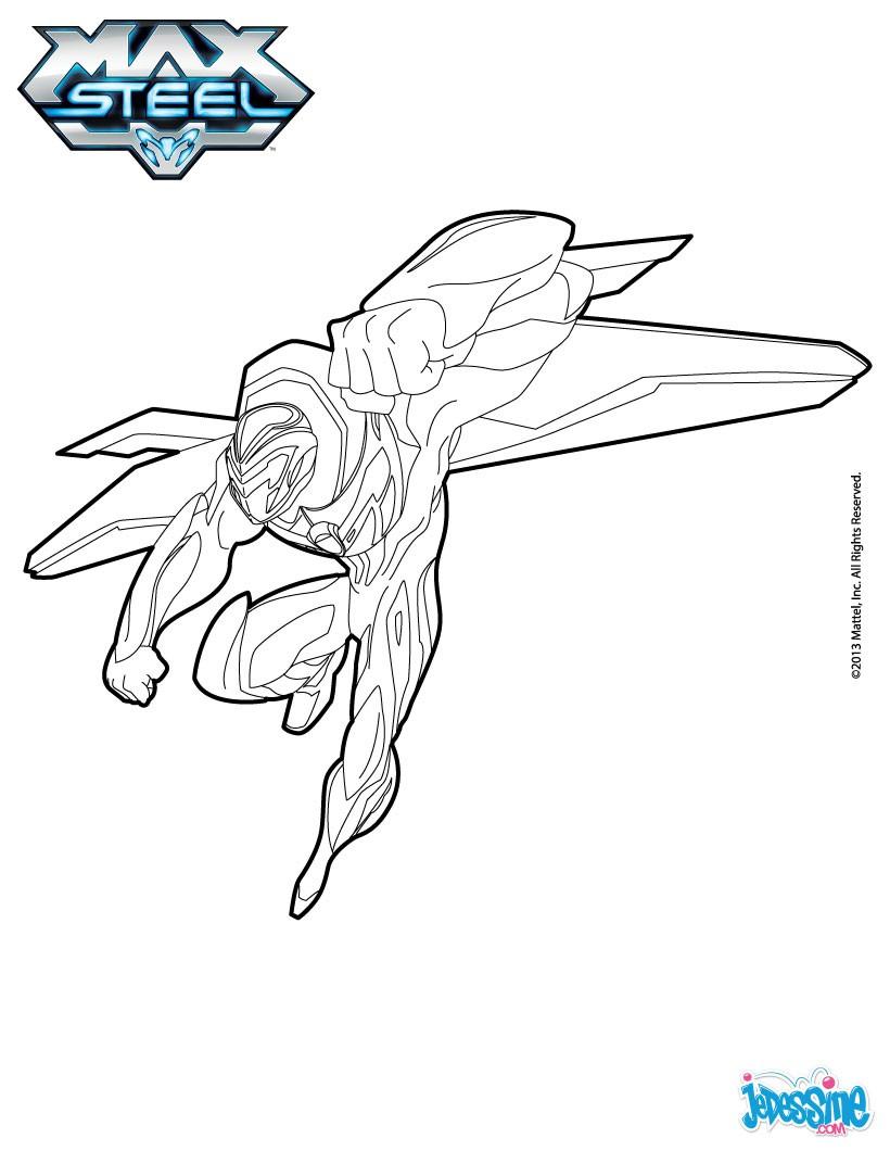 dessin à colorier de max steel gratuit