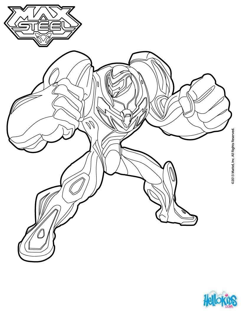 dessin à colorier max steel en ligne