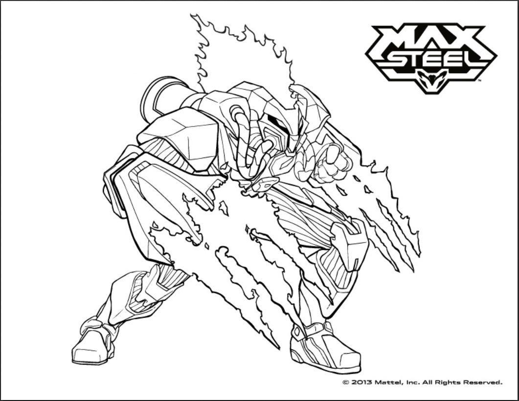 dessin à colorier max steel à imprimer