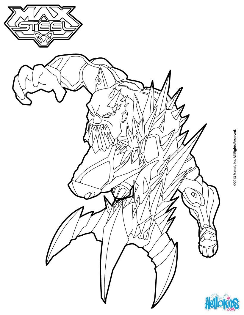 coloriage à dessiner gratuit max steel