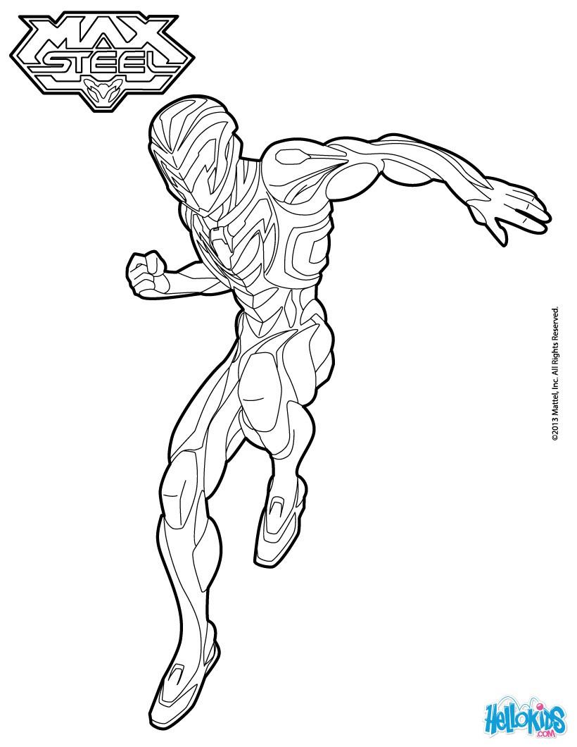 dessin gratuit max steel