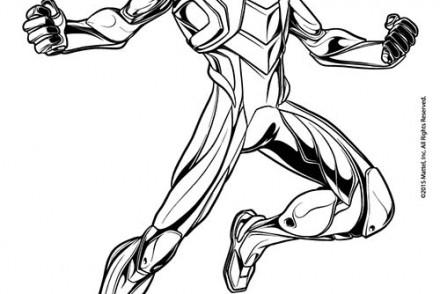 dessin de max steel a imprimer