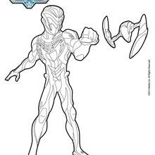 dessin à colorier moto max steel