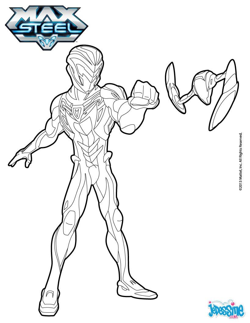 dessin de max steel gratuit