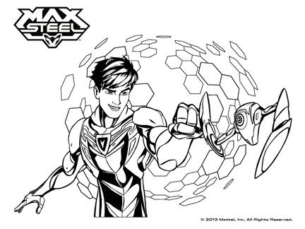dessin a colorier max steel