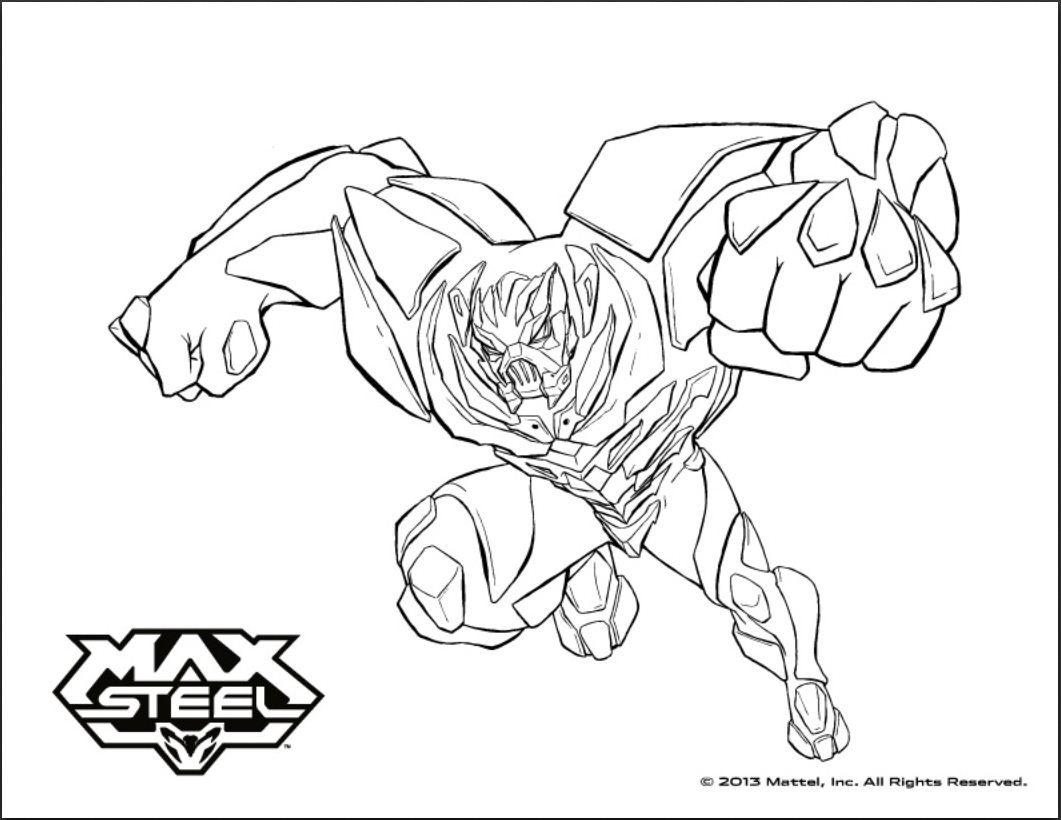 dessin moto max steel
