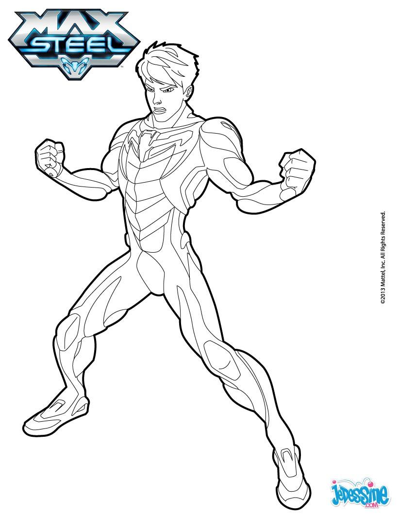 dessin à colorier de max steel