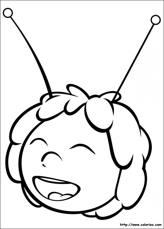 coloriage à dessiner maya l abeille