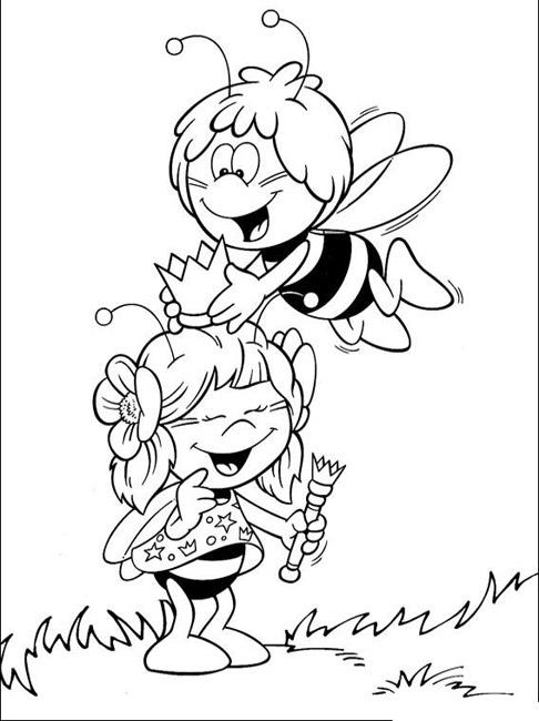 dessin maya l abeille