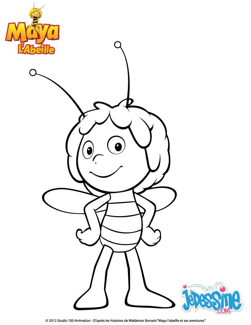 dessin en ligne de maya l'abeille