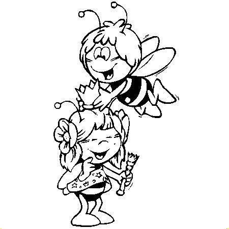 coloriage à dessiner gratuit à imprimer maya l'abeille