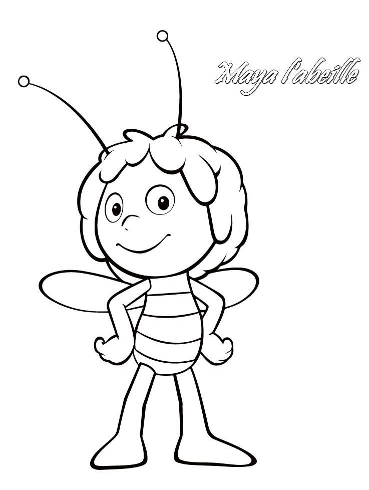 Dessin a imprimer gratuit de maya l 39 abeille - Abeille coloriage ...