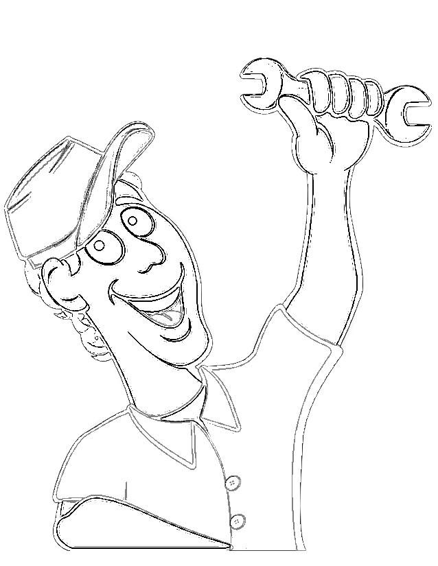 dessin de mecanicien