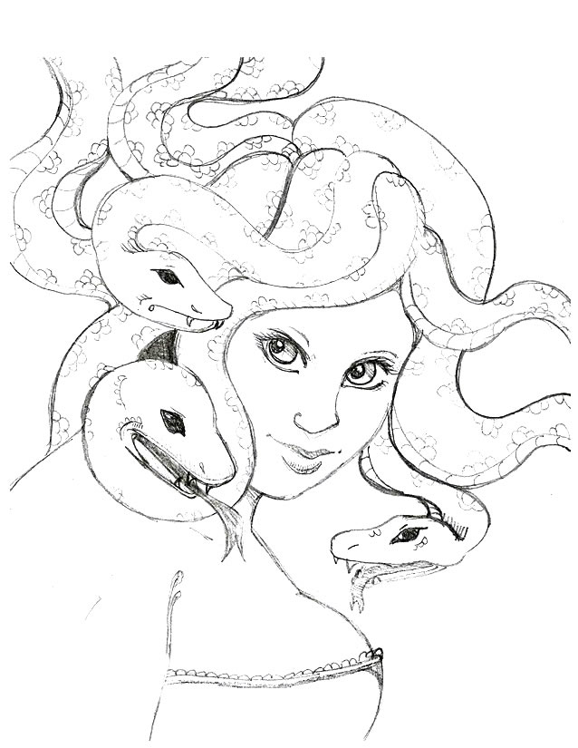 Coloring Pages Of Medusa