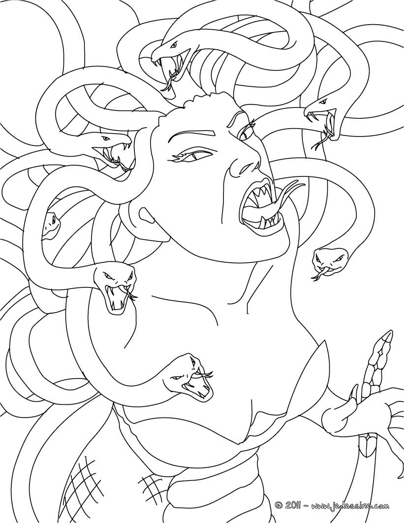 dessin meduse mythologie