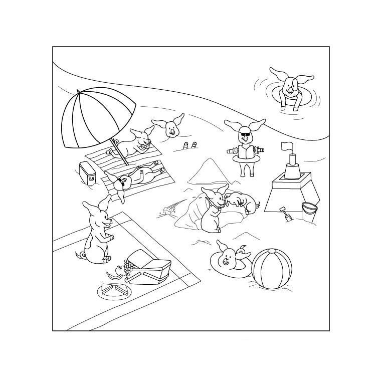 98 dessins de coloriage mer plage imprimer - Dessin vacances mer ...