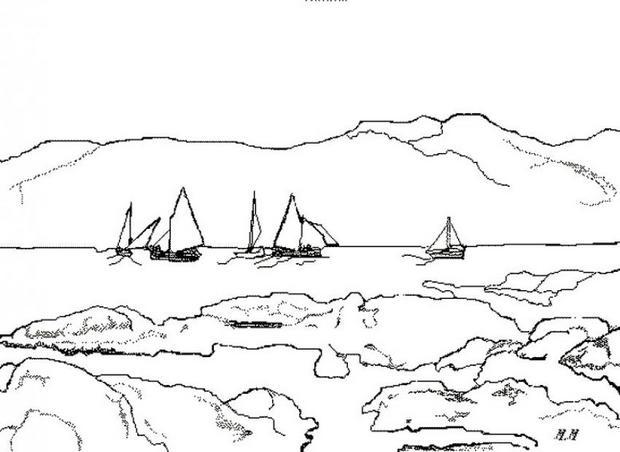 dessin à colorier etoile de mer a imprimer