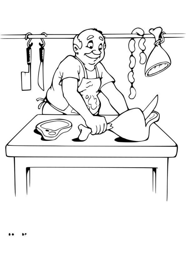 dessin métier boulanger