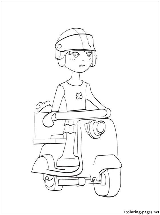 coloriage à dessiner mia à imprimer