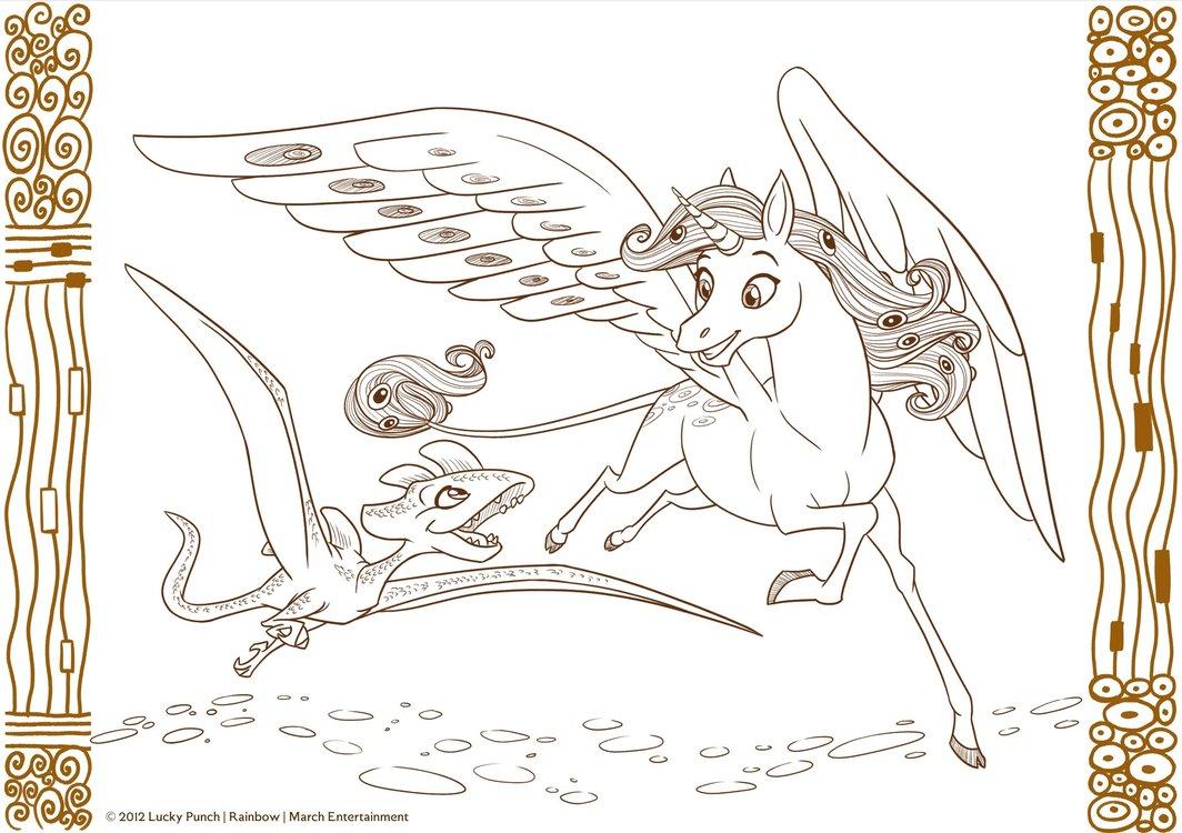dessin à colorier mia et onchao
