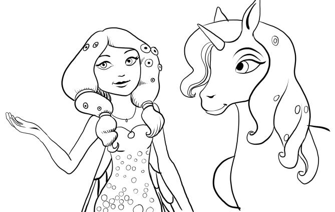 dessin à colorier mia