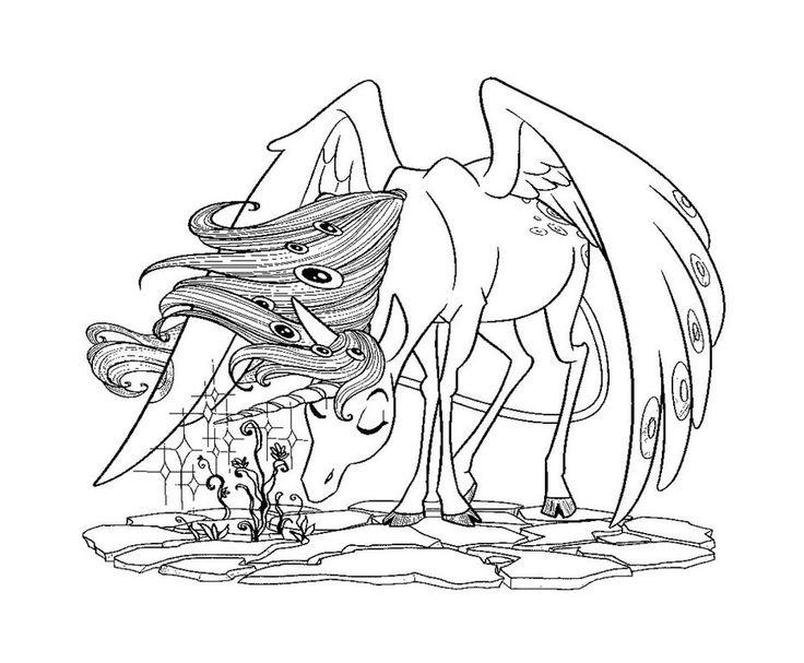dessin à colorier licorne mia et moi