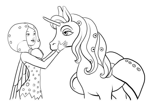 coloriage à dessiner licorne mia et moi