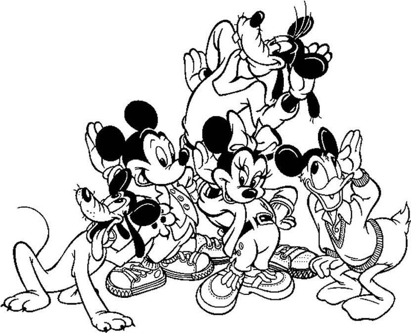 19 dessins de coloriage mickey et ses amis imprimer - Coloriage minnie et daisy ...