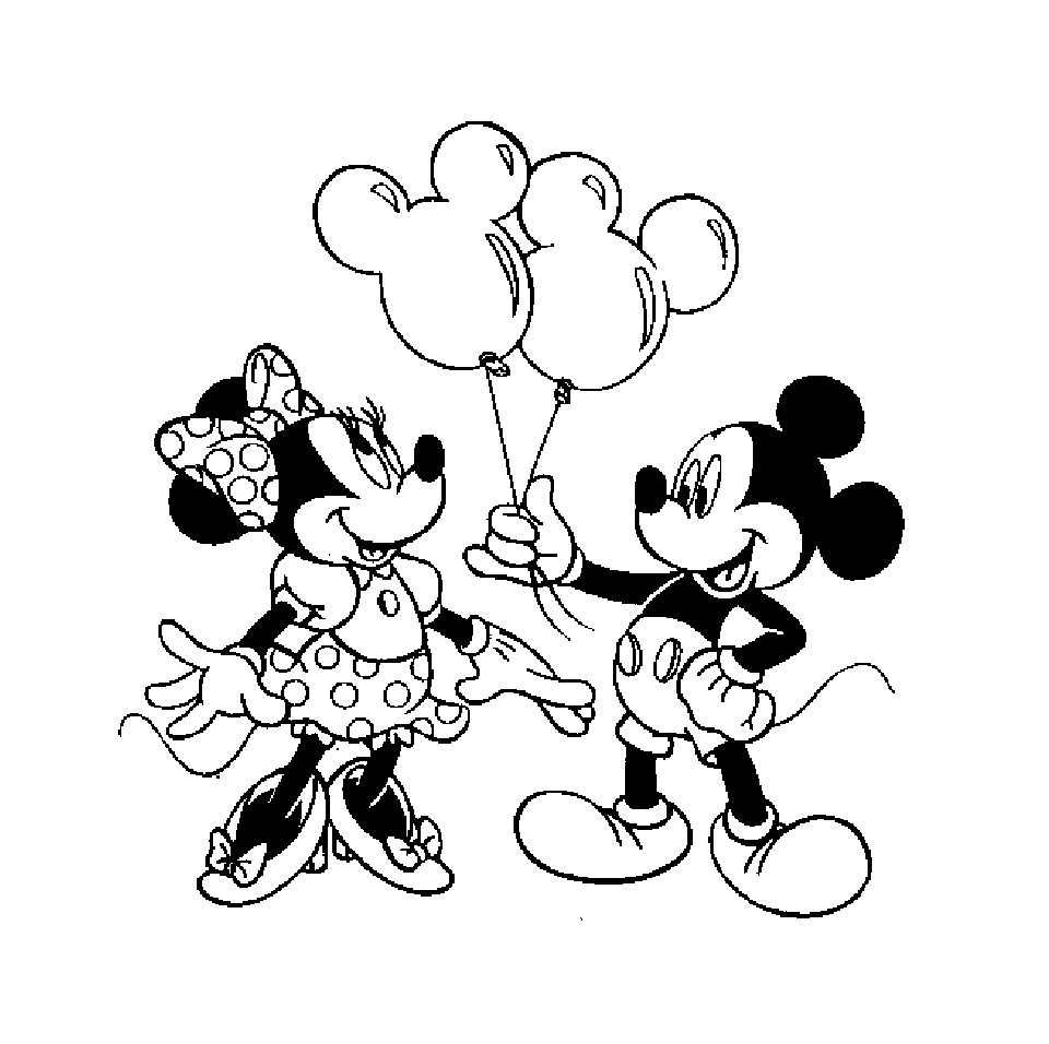 20 Dessins De Coloriage Mickey Minnie A Imprimer