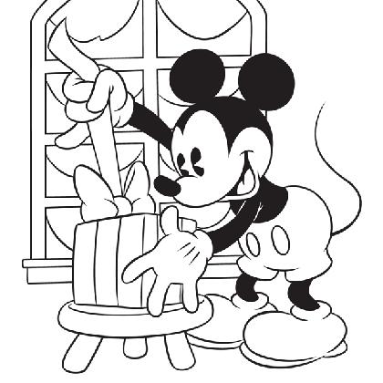 19 dessins de coloriage mickey noel imprimer - Dessin de mickey facile ...