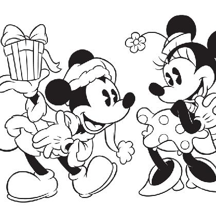 19 dessins de coloriage mickey noel imprimer - Dessin de minnie a imprimer ...