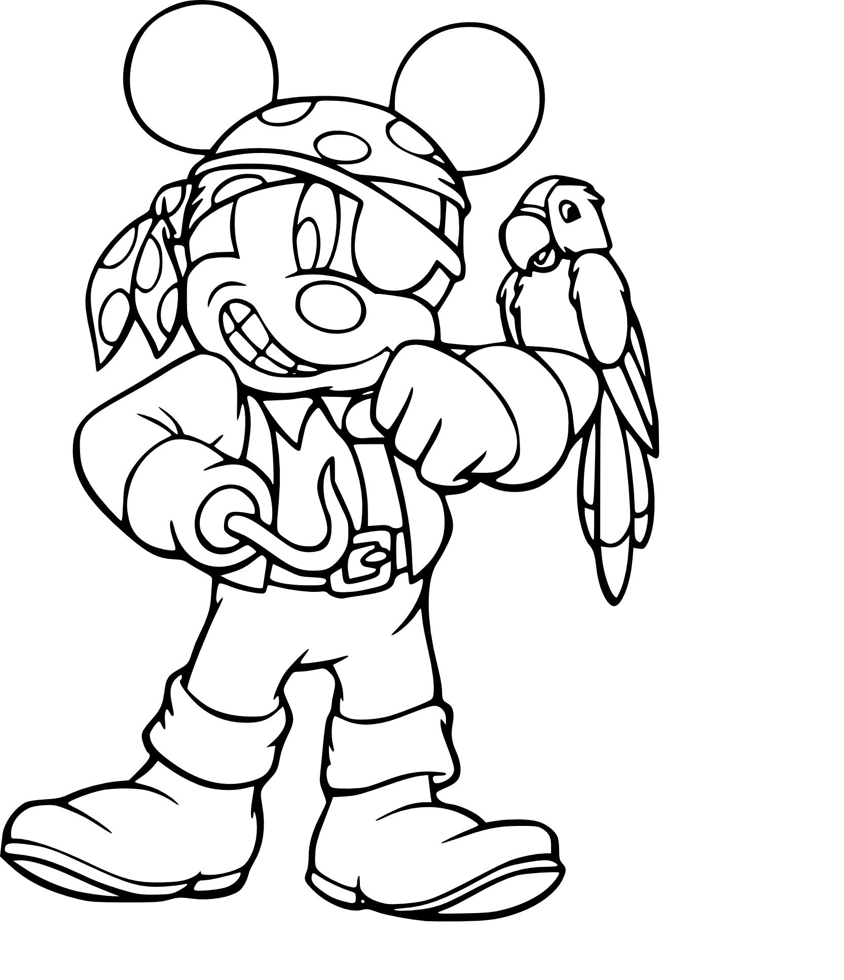 dessin à colorier mickey noel imprimer gratuit