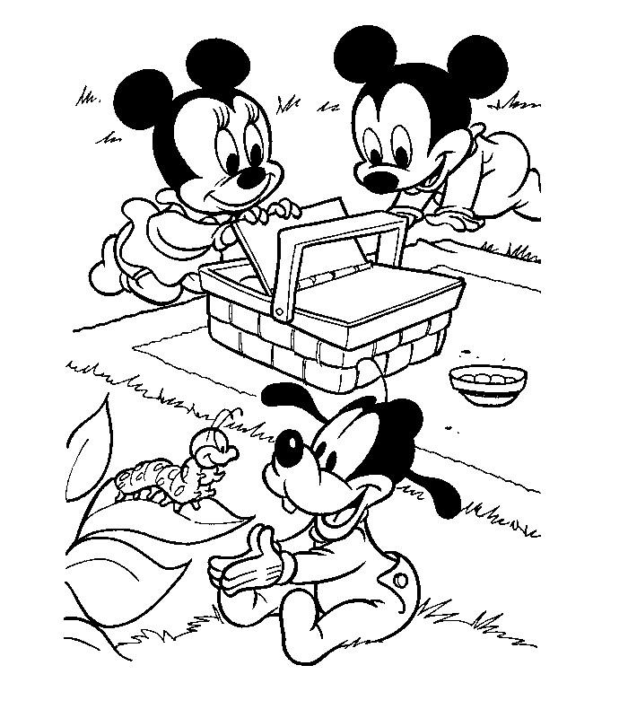 image à colorier mickey mouse