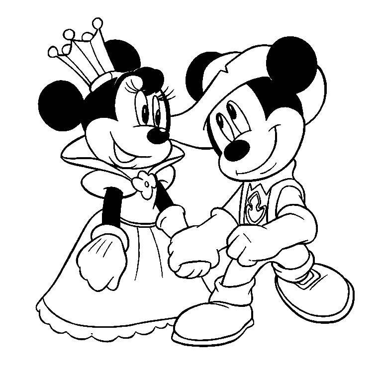 dessin � colorier tv mickey