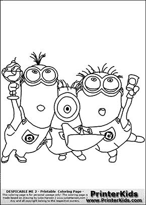 224 dessins de coloriage les minions imprimer for Minion birthday coloring pages