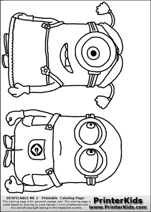 coloriage � dessiner minion rush