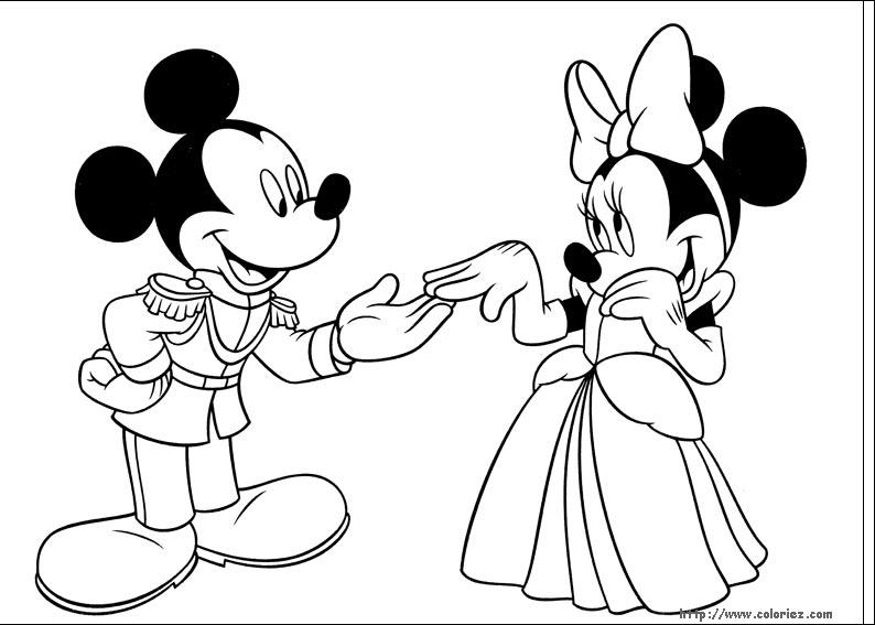 Dessin Mickey Minnie à Imprimer