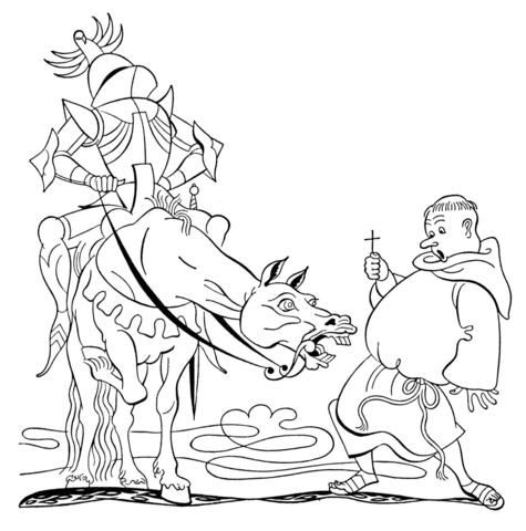 dessin à colorier monk