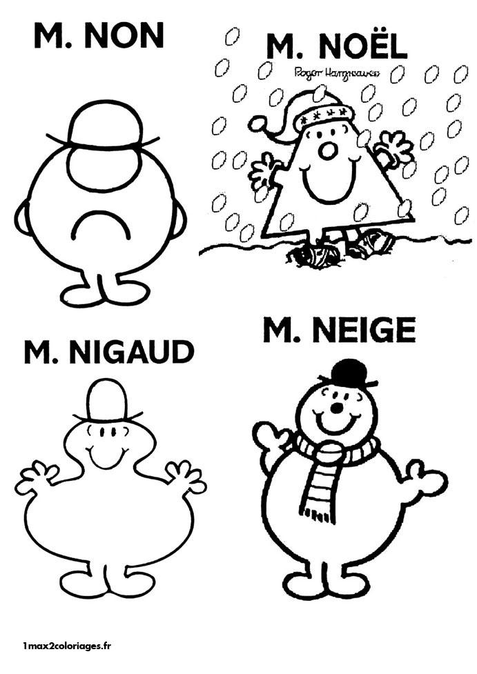 coloriage à dessiner monsieur et madame bonhomme