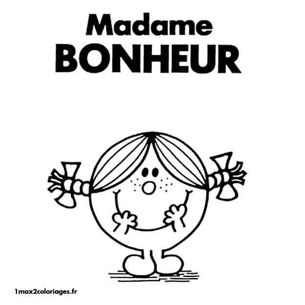 dessin à colorier monsieur madame a imprimer gratuit