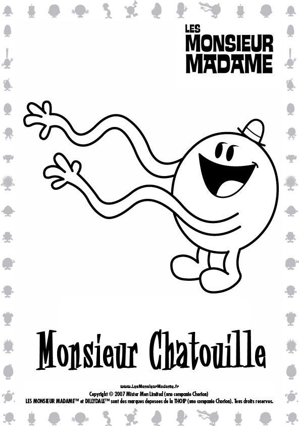 coloriage monsieur madame en ligne gratuit