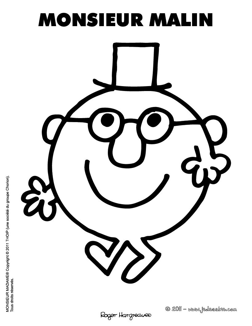 35 dessins de coloriage monsieur madame imprimer - Coloriage mr mme ...