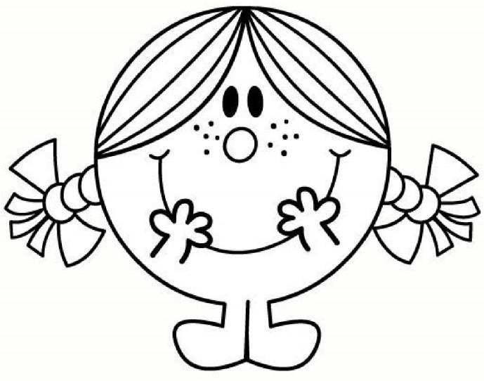 dessin à colorier de monsieur madame à imprimer