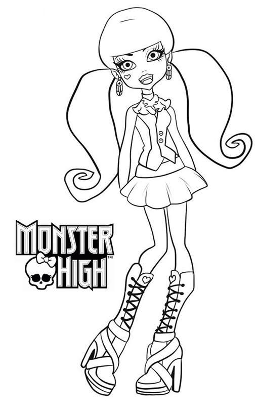 20 dessins de coloriage monster high imprimer draculaura - Coloriage de monster ...