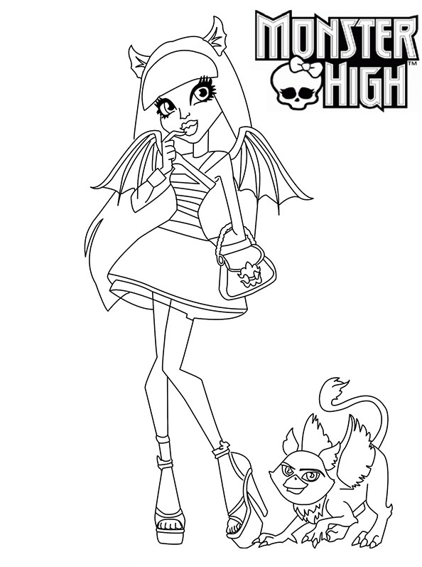 20 dessins de coloriage monster high imprimer imprimer - Coloriage de monster ...