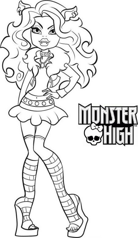 coloriage monster high a imprimer