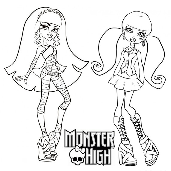 20 dessins de coloriage monster high imprimer imprimer - Dessins de monster high ...
