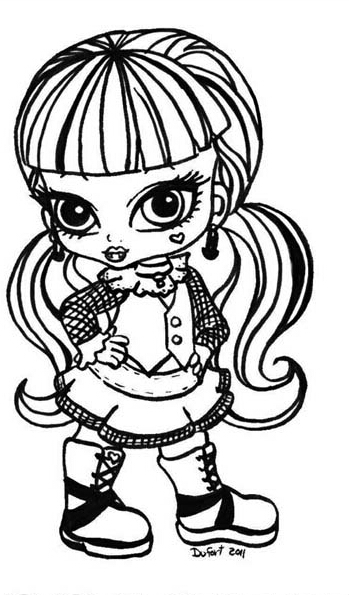 5 dessins de coloriage monster high baby toralei imprimer - Coloriage monster high baby ...