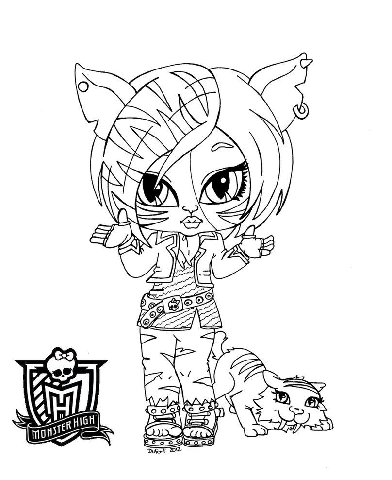 19 dessins de coloriage monster high baby imprimer - Coloriage monster high baby ...