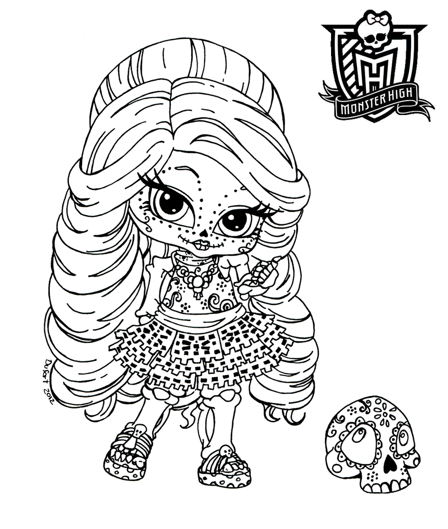 Coloriages Bebe Monster High